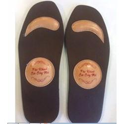 Lót giầy hai lớp da + đá thạch anh massage chân, tạo năng lượng