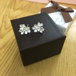 Bông tai 3 bông hoa, hoa tai, trang sức, phụ kiện