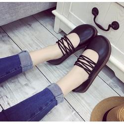 Giày búp bê cột dây đế bánh mì V2