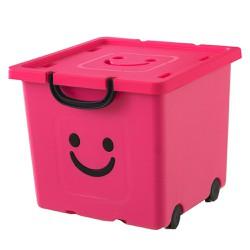 Thùng nhựa đựng đồ cao cấp size vừa Happy Box Yuwon PS Hồng