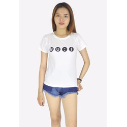 Áo thun nữ in chữ nổi bật, phong cách C93K4