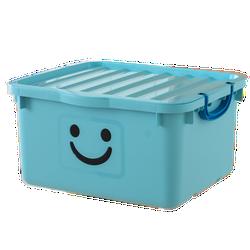 Thùng nhựa đựng đồ cao cấp size lớn Happy Box Yuwon PS xanh dương nhạt