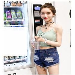 quần short jeans rách Mã: QN745 - XANH ĐẬM
