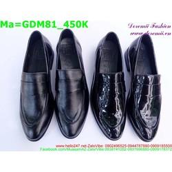 Giày mọi nam màu đen vói kiểu dáng đơn giản, sang trọng GDM81