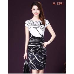 ĐẦM SUÔNG HỌA TIẾT HÀNG NHẬP HONGKONG SP.01291D