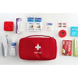 Túi y tế đỏ, to + 24 cơ số thuốc