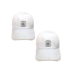 Nón cặp USA trắng thời trang H262