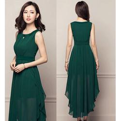 Đầm dạ hội xếp ly sang trọng - D9007