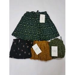 quần váy dập ly hoa nhí