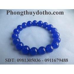 Vòng tay đá mã não xanh dương 10 ly - Vòng tay đá phong thủy