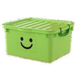 Thùng nhựa đựng đồ size lớn Happy Box Yuwon PS Xanh lá cây nhạt