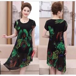 Đầm suông vạt xéo DS39 - size L~3XL - hàng nhập