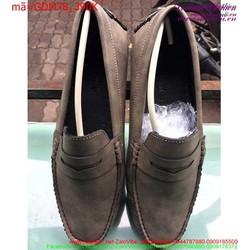 Giày mọi nam phối da nâu phong cách trẻ trung sành điệu GDM78