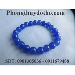 Vòng tay đá mã não xanh dương 8 ly - Vòng tay đá phong thủy