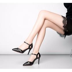 Giày cao gót nữ quai hậu cách điệu - LN1227