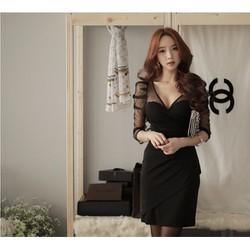 Đầm nữ dài tay thời trang, kiểu dáng xinh xắn-10895378