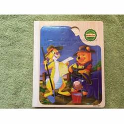 Sách gỗ ghép hình gấu pooh và những người bạn phát triển trí tuệ