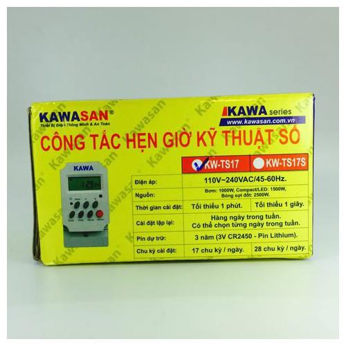 Công tắc hẹn giờ kỹ thuật số gắn tủ điện - hộp CB-thanh ray Kawa TS17S - 4283238 , 5689967 , 15_5689967 , 489000 , Cong-tac-hen-gio-ky-thuat-so-gan-tu-dien-hop-CB-thanh-ray-Kawa-TS17S-15_5689967 , sendo.vn , Công tắc hẹn giờ kỹ thuật số gắn tủ điện - hộp CB-thanh ray Kawa TS17S