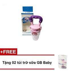 Túi nhai ăn dặm chống hoc GB Hàn Quốc - Tặng 02 túi trữ sữa GB