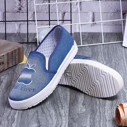 Sale - Giày nữ  dễ thương cho mùa hè thu năng động - màu xanh lam nhạt