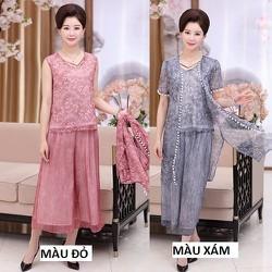 Bộ áo cặp + quần culottes BA1 - size L~4XL - hàng nhập