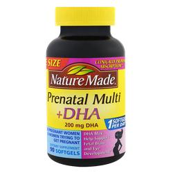 Nature Made PrenatalMulti + DHA 200 - Thuốc bổ bà bầu Có DHA