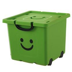 Thùng nhựa đựng đồ cao cấp size vừa Happy Box Yuwon PS Xanh lá cây