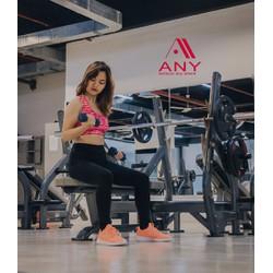 Quần thể thao nữ tập gym chạy bộ yoga legging dáng dài đen trơn