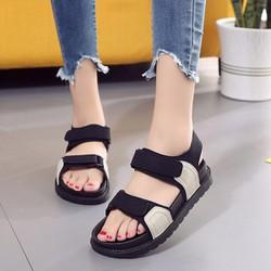 Giày sandal nữ quai dán dễ thương đế cao su dẻo - SD223W