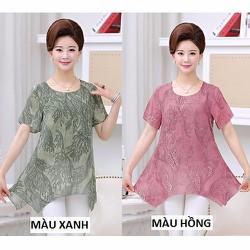 Áo kiểu vạt xéo A8 – size L~4XL – hàng nhập Đài Loan