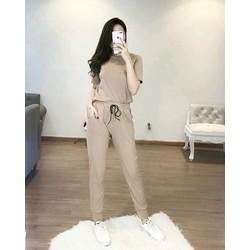 Set bộ thun áo quần dài bo siêu cute