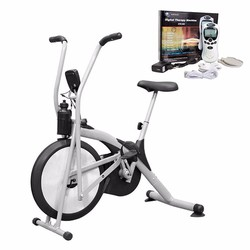 Bộ Xe Đạp Tập Thể Dục Air Bike + Máy Massage Xung Điện 4 Miếng Dán