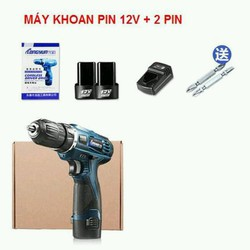 KHOAN PIN 12V - HAI PIN SẠC LONGYUN