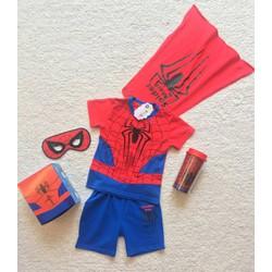 Bộ quà tặng 5 món bộ thun người nhện Spiderman anh hùng cho bé trai