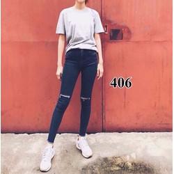 Quần jean dài rách gối - A30246