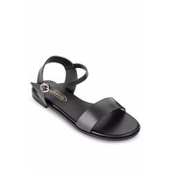 Giày sandals quai ngang JANVID L051 Đen