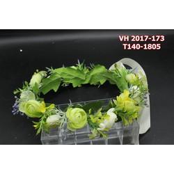 Vòng hoa cô dâu vơi tông màu xanh lá cây , trẻ trung