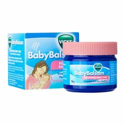 Vicks baby balsam - Dầu thoa giữ ấm, trị ho, ngạt mũi cho bé