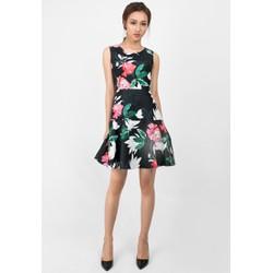 Đầm xoè hoa thiết kế đuôi cá