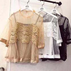 áo voan phối ren