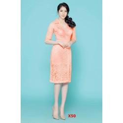 Đầm Ren Cổ Vest Cao Cấp