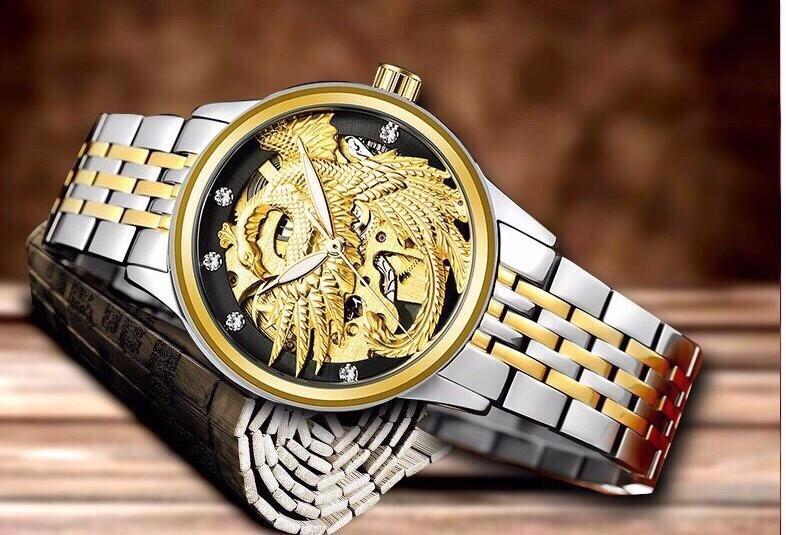 đồng hồ cơ long phụng nữ TEVISE 4