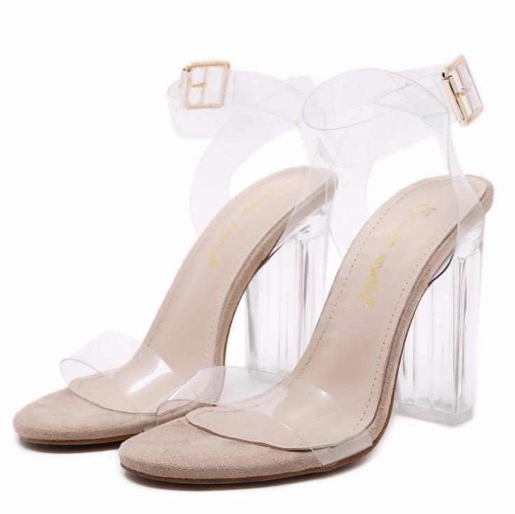 Giày cao gót nữ trong suốt quai trong - LN1229 7