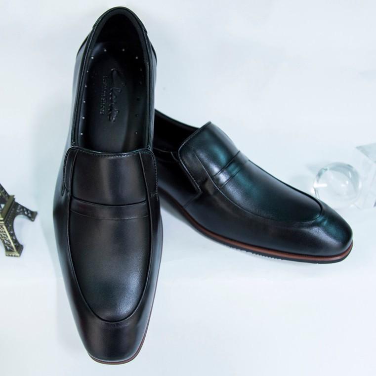 Giày Tây Nam Oxford Đen da bò kiểu trơn giá tốt 3