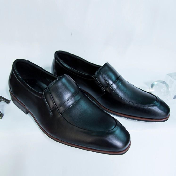 Giày Tây Nam Oxford Đen da bò kiểu trơn giá tốt 2