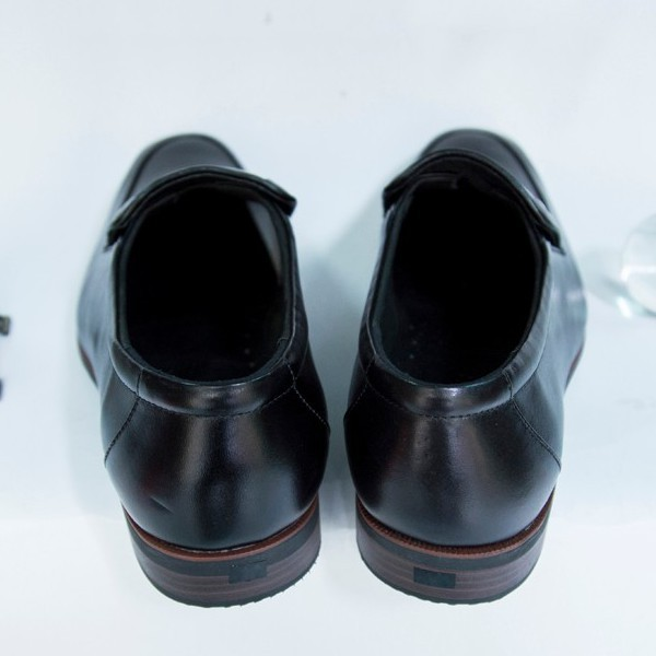 Giày Tây Nam Oxford Đen da bò kiểu trơn giá tốt 4