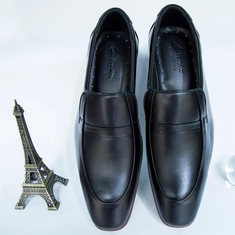 Giày Tây Nam Oxford Đen da bò kiểu trơn giá tốt 1