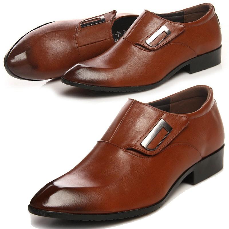 Giày tây thời trang nam chất liệu cao cấp , quai ngang độc đáo 610 9
