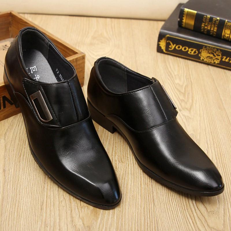Giày tây thời trang nam chất liệu cao cấp , quai ngang độc đáo 610 8