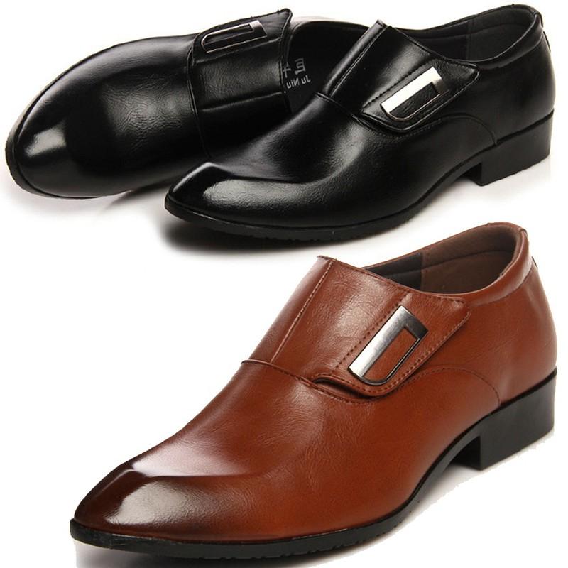Giày tây thời trang nam chất liệu cao cấp , quai ngang độc đáo 610 10